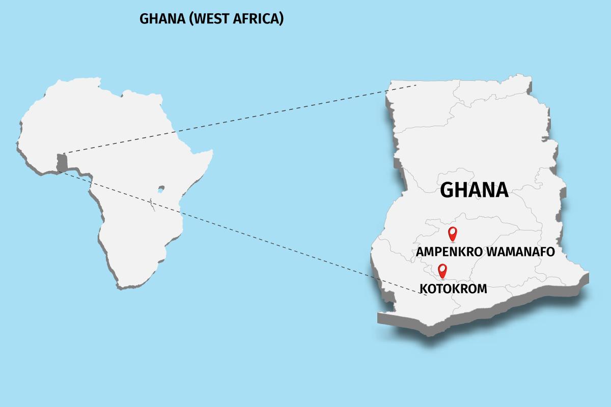 ghana west africa map
